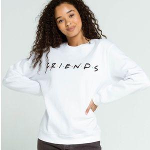 FRIENDS logo Sweatshirt is NWT. Juniors size large